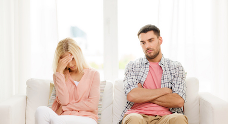 A couple thinking about the cost for getting a lawyer to resolve their family law dispute